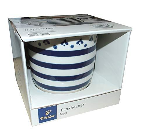 Trinkbecher Tasse Streifen mit Muster 450 ml Jumbotasse Jumbobecher