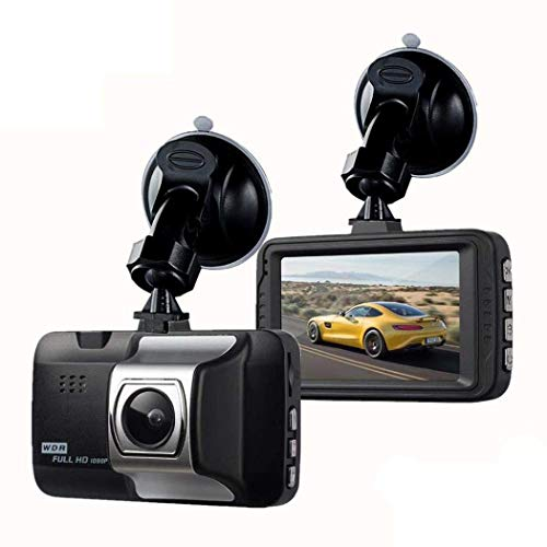 kouye- Driving Recorder HD Small Cam 1080P Car Driving Recorder Wide Angle Dashboard Camera On-Dash Video Black