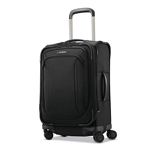 Samsonite Lineate Softside Luggage, Obsidian Black, Carry-On