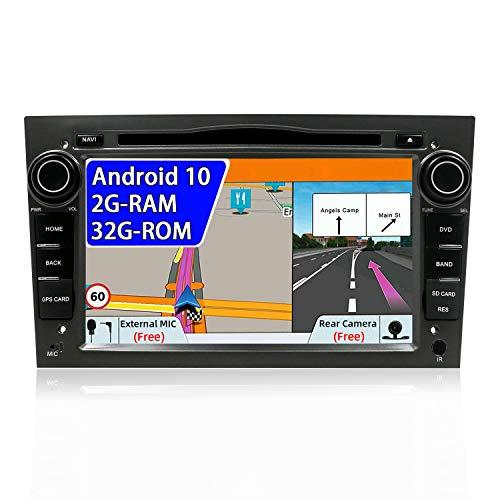 JOYX Android 10 Autoradio Compatible Para Opel Vauxhall Antara Astra Zafira Corsa Meriva - GRATIS Cámara Canbus Micrófono - 2G/32G - 2 Din - 7 pulgadas - Soporte DAB 4G WLAN BT5.0 Volante Carplay USB