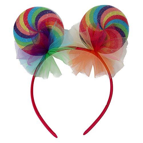Genial Adorno para la Cabeza Chica Candy para Mujer - Lindo Accesorio de Disfraz bombn - Incomparable para Festival y Fiestas de Disfraces