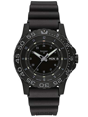 traser H3 P 6600 Shade Sapphire Watch | Rubber Strap - Black