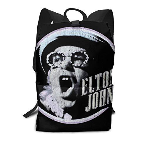 Homebe Rucksäcke,Daypack,Schulrucksack Für Jungen und Mädchen, Elton Homage 2 John School College Bookbag for Girls Boys Fashion Travel Back Pack