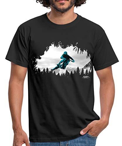 Mountainbiker Downhiller Tabletop MTB Männer T-Shirt, S, Schwarz