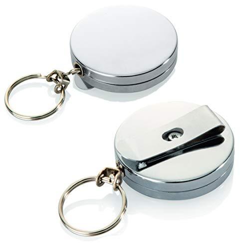 TAMLED Rollmatik - die Schlüsselkette Edelstahl - 2 Stück