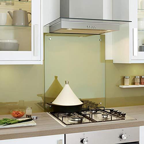 Cristal templado transparente resistente al calor, agujeros y fijaciones pretaladrados (80 x 90 cm)