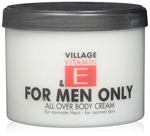 Village For Men Only Body Cream mit Vitamin E, 1er Pack (1 x 500 ml)