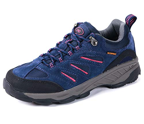 TFO Women's Air Cushion Hiking Shoe Breathable Running Outdoor Sports Trail Trekking Sneaker Purple Blue