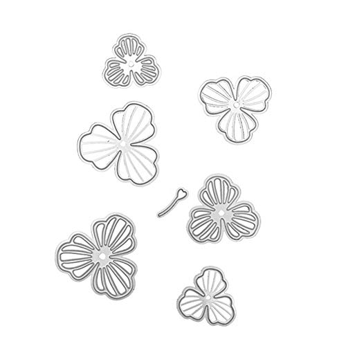 Metal Cutting Dies Stencil, Six Pieces Flower Petal DIY Scrapbooking Album Paper Card Embossing Craft Decor,Good Gift for Your Kids to Cultivate Their Hands-on Ability