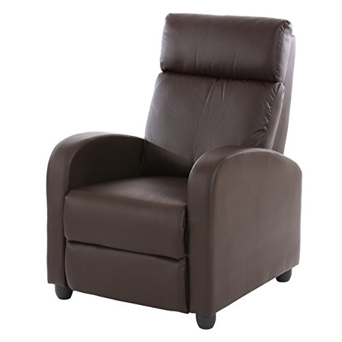 Fernsehsessel Relaxsessel Liege Sessel Denver, Kunstleder - braun