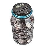 Cajas de Dinero Smart Extensed Hucha Bank en Cubo Conteo Electrónico Cambio Moneda Moneda Banco Banco de Dinero de Gran Capacidad Banco de Dinero (Color: USD) TINGG (Color : EUR)
