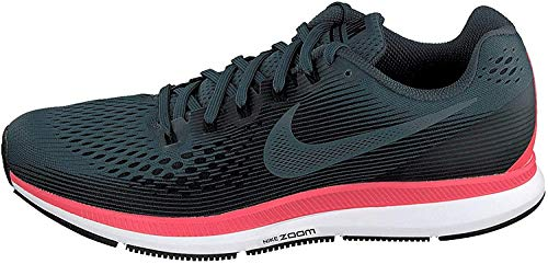 Nike Herren Air Zoom Pegasus 34 Laufschuhe, Grau (Blue Fox/Black/Bright Crimson/White 403), 42 EU
