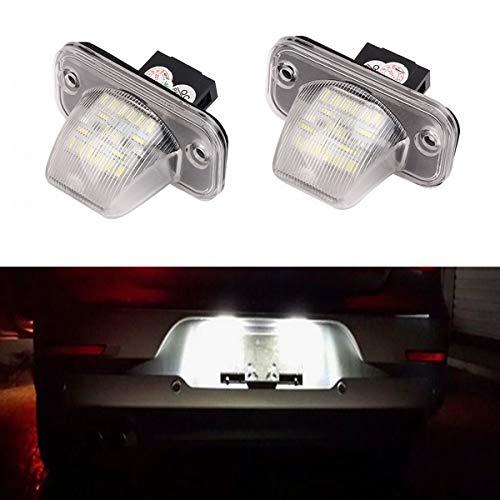 GOFORJUMP 2X Erreur Libre 18 lumière de Plaque d'immatriculation numéro SMD pour V/W T4 T/Transporteur 1990-2003 Passat B5 Caddy Limousine Jetta/Syncro