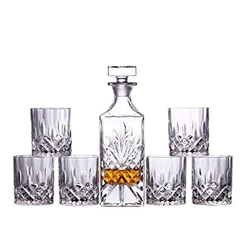 XYSQWZ Juego De Whisky, 1 Jarra De Cristal De Bohemia con 6 Vasos