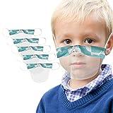 TOPEREUR 5 Stück Kinder Gesichtsschutz Gesichtsschild Offene Visier Mundschutz Wiederverwendbar Transparent Staubdicht VisierMundschutz Schutzschild für Schulkinder Jungen Mädchen
