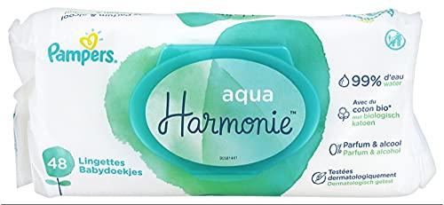 Pampers Aqua Harmonie Pack de 48 Lingettes pour Bébé