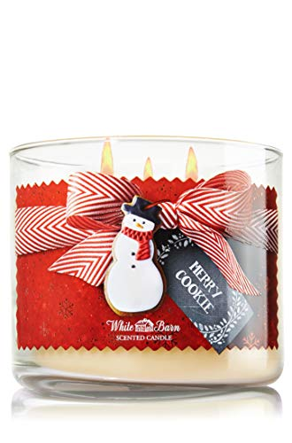 White Barn Bath & Body Works MERRY COOKIE 14.5 oz 3-Wick Scented Candle (411g)