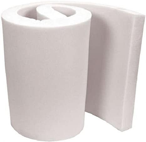 GoTo Foam 4 Height x 24 Width x 120 Length 44ILD Firm Upholstery Cushion Made in USA