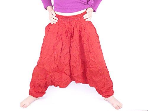 Sarouel 4/5 años niños Pantalón étnico Harem pant children niña para niño, color rojo