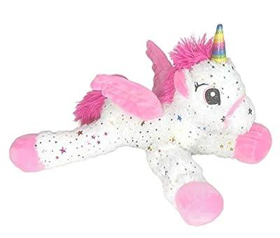 "BARRADO - Peluche 15'75""/40cm Unicornio Tumbado con Estrellas Calidad Super Soft (Rosa)"