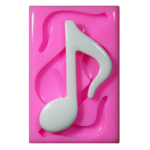 Grand moule en silicone x 2 Musical Note croche Moule pour décoration gâteau glaçage pour gâteau Sugarcraft outil de fées Blessings