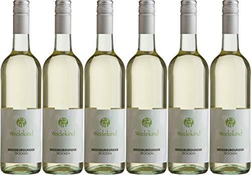 Wedekind Niersteiner Weißburgunder Kabinett Wein aus Umstellung auf den ökologischen Weinbau 2019 Trocken (6 x 0.75 l)