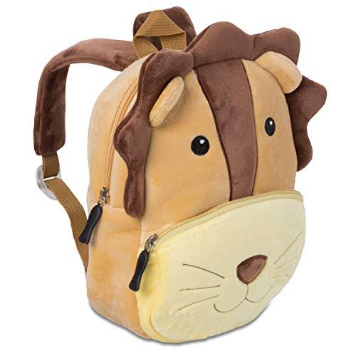 Kinderrucksack für Kleinkinder Kindergarten Rucksack für Kinder Backpack Schultasche Tier-Rucksäcke 1-4 Jahre, Robust, Leichtgewichtig, Flauschig & ergonomische Träger (Löwe)