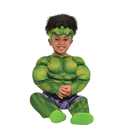 Suit Yourself Classic Hulk Muscle Halloween Costume for Babies, Size 12-24 Months, Includes Jumpsuit and Hat