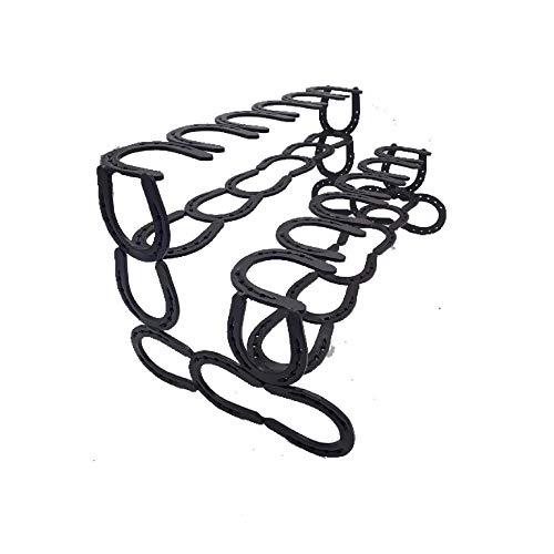 Black 6 Pair Horseshoe Boot Rack