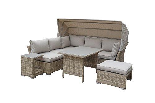 HTI-Line Loungemöbel-Set Sonneninsel Vario 4 Loungegarnitur Garten Set