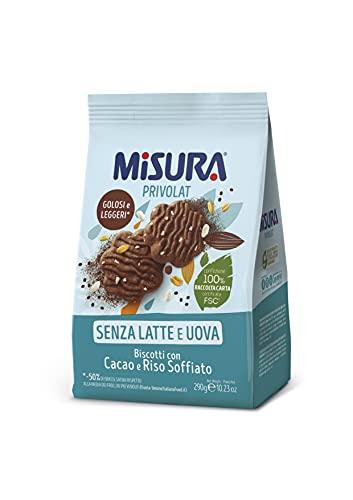 Misura Biscotti al Cacao e Riso Soffiato Privolat | Senza Latte e Uova | Confezione da 290 grammi