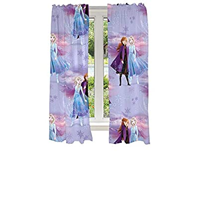 "Franco Kids Room Window Curtains Drapes Set, 82"" x 63"", Disney Frozen 2"