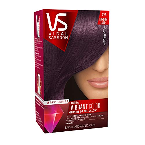 Vidal Sassoon Pro Series Permanent Hair Dye, 3VR Deep Velvet Violet Hair Color, 1 Count