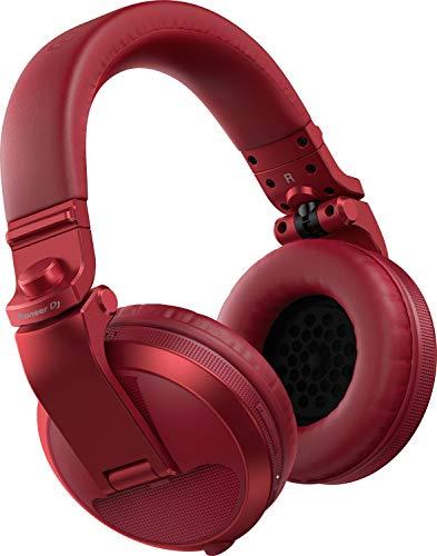 Pioneer DJ HDJ-X5BT-R Auriculares Bluetooth para DJ, Rojo