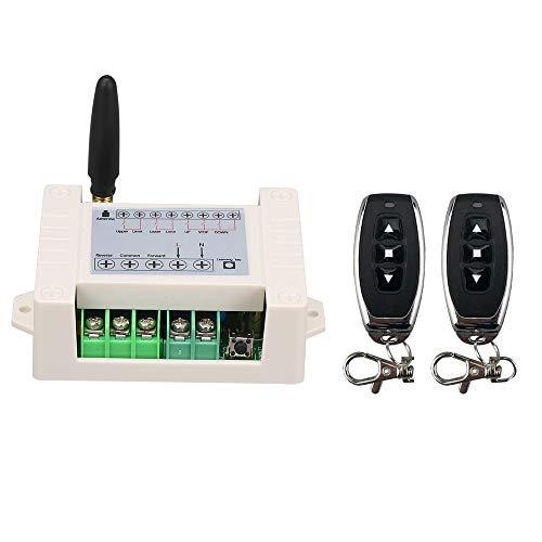 Lechnical AC85-250V 10A 2CH 433Mhz Motor Interruptor de Control Remoto Motor hacia adelante Retroceso Arriba Abajo Puerta Cortina de Ventana Cortina inalámbrica TX RX Módulo de Interruptor Limitado y