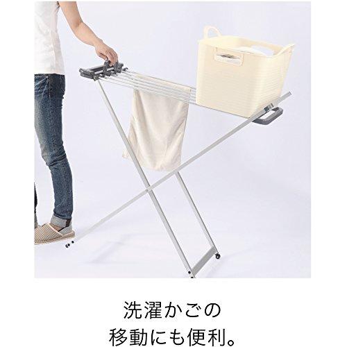 シービージャパンバスタオルハンガー折りたたみアルミ製キャスター付きKogure