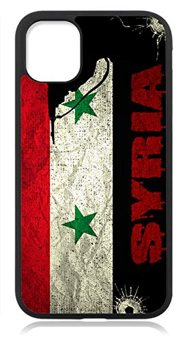 Kompatibel mit iPhone 11 PRO Hülle Silikon Handyhülle Flexibles Slim Case Cover Syrien Syria Fahne Flagge