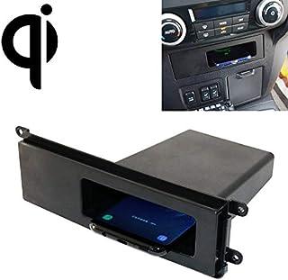 ملحقات السيارات الإلكترونية شاحن لاسلكي قياسي للسيارة Qi للشحن السريع 10 وات لميتسوبيشي باجيرو 2017-2018، القيادة اليسرى