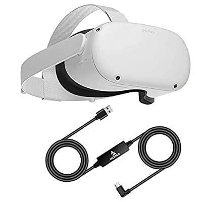 Oculus 2020 Newest Quest 2 VR 256GB Family Christmas Holiday Bundle, Advanced All-in-One Virtual Reality Gaming Headset, NexiGo 16FT Link Cable Accessory Bundle