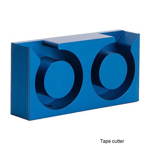 Plakfolieroller (dubbel model) Materiaal: Aluminium Kleur: Blauw