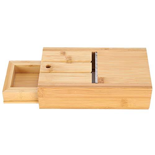 Coupe-savon en bambou Coupe-savon réglable avec tiroir Savon fabriqué à la main faisant des fournitures Biseau raboteuse Tranche de bricolage pratique pour la fabrication de bougies à la main Coupe