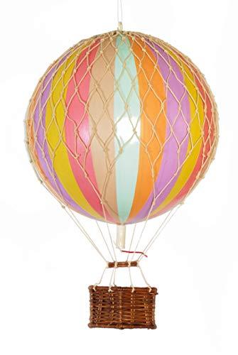 Authentic Models Travels Light - Mongolfiera a forma di arcobaleno, Ø 18 cm, colori pastello