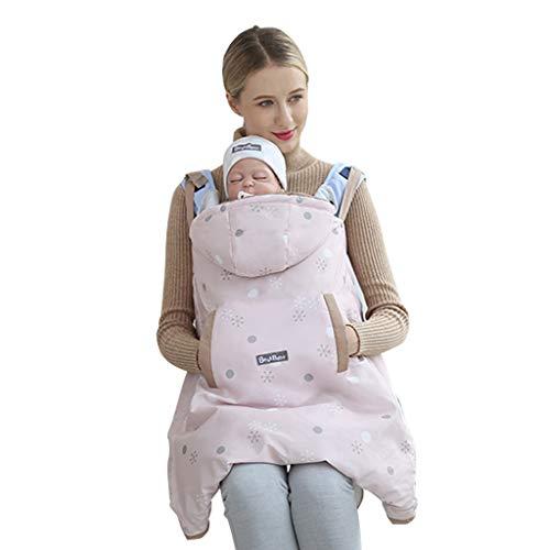 Wintercover und Regenschutz, Babytragen mit Fleece-Innenfutter wasserdichte Hülle, Rose