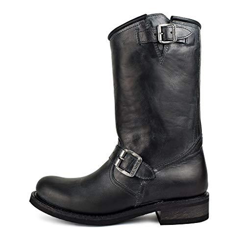 Sendra Boots Stiefel Biker 2944 Chiquita vibrierend schwarz, Schwarz - Schwarz - Größe: 36 EU