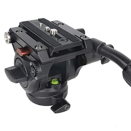 Cayer H4 Video Fluid Head, Camera Tripod Fluid Drag Pan...