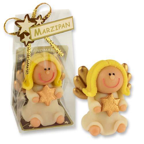 2 Engel aus Marzipan | Essbar | Einzeln verpackt | Geschenk