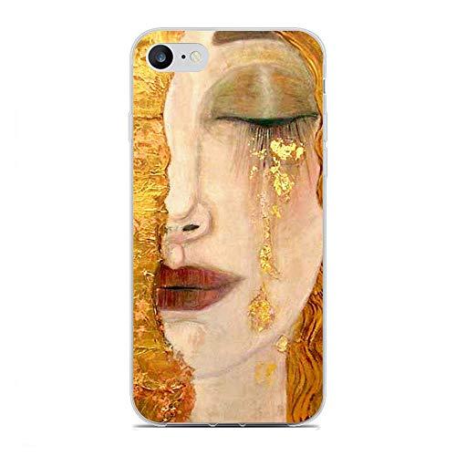 QNNN Transparent Coque Case for Apple iPhone 6 Plus/6s Plus, Kiss Gustav-Klimt Art 6 Soft Clear Anti-Yellowing TPU Cover Flexible Silikon