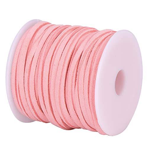 DonDon Cinta de terciopelo de 3 mm - DIY Rollo de 30 metros - rosa