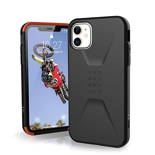Urban Armor 11171D114040 Gear Civilian Apple iPhone 11 (6.1') Cover Protettiva Rugged Custodia (Compatibile Con il Qi Wireless, Ultra Slim Protezione Case, Antiurto) - nero