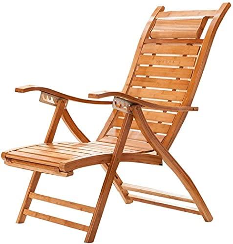Silla de bambú de verano plegable silla reclinable cubierta perezosa silla tumbona ancianos balcón silla columpio silla mimbre